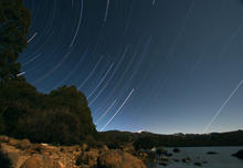 Star Trail over Lake St Clair