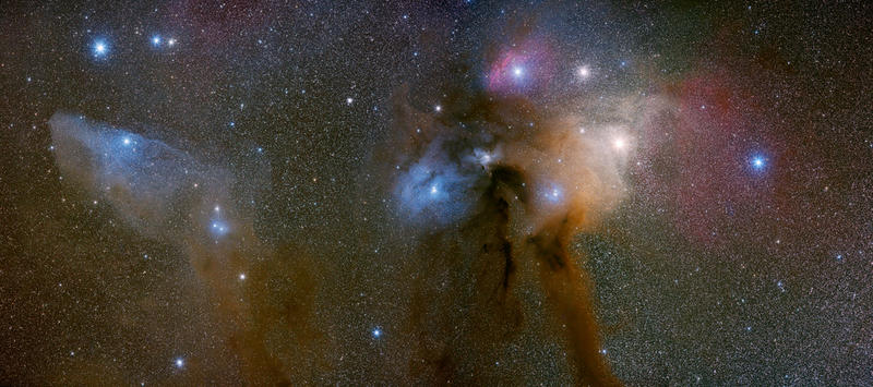 Antares, Rho Ophiuchi and the Blue Horsehead